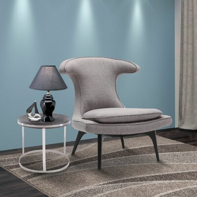 Warwick Lounge Chair Upholstery: Gray