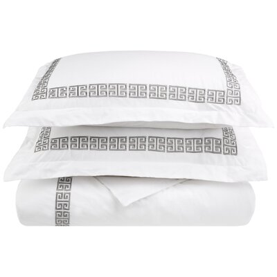 Bourg Reversible Duvet Cover Set Color: Grey, Size: Twin XL