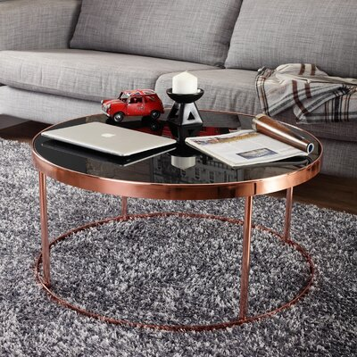 Chartreuse Contemporary Coffee Table