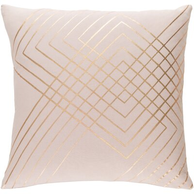 Ozara Cotton Throw Pillow Size: 22 H x 22 W x 4 D, Color: Pink/Yellow