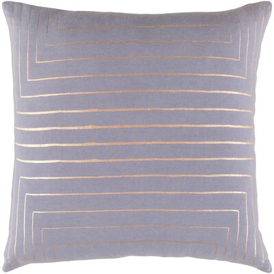 Steele Cotton Pillow Cover Size: 20 H x 20 W x 1 D, Color: Gray