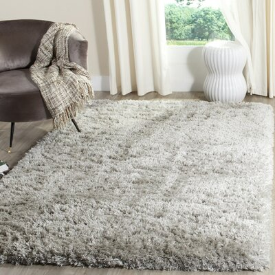 Hermina Silver Area Rug Rug Size: Rectangle 67 x 92