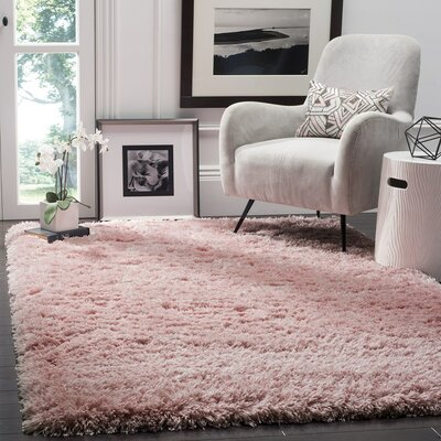 Hermina Light Pink Area Rug Rug Size: Rectangle 9 x 12