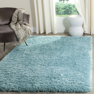 Hermina Light Turquoise Area Rug Rug Size: Rectangle 9 x 12