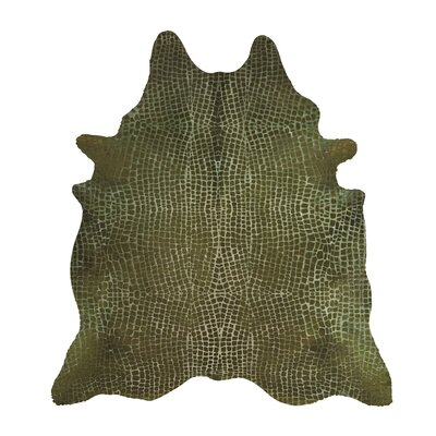 Yareli Crocodile Green Hide Rug