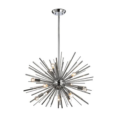 Elinore 12-Light Pendant Finish: Chrome