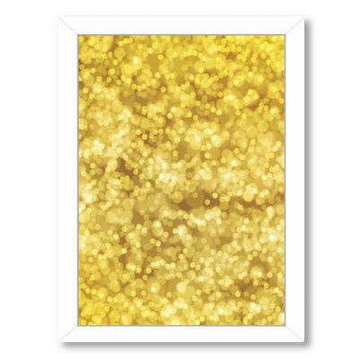 """Golden Bokeh Framed Graphic Art Size: 26.5"""" H x 20.5"""" W x 1.5"""" D MRCR7469 33492311"""