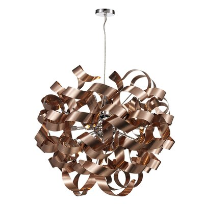 Birmingham 12-Light Geometeric Pendant Finish: Polished Chrome