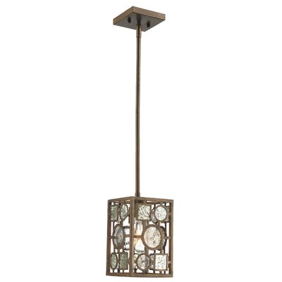 Belgrade 1-Light Mini Pendant Finish: Antique Silver