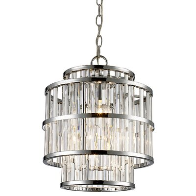 Beeston 3-Light Crystal Pendant