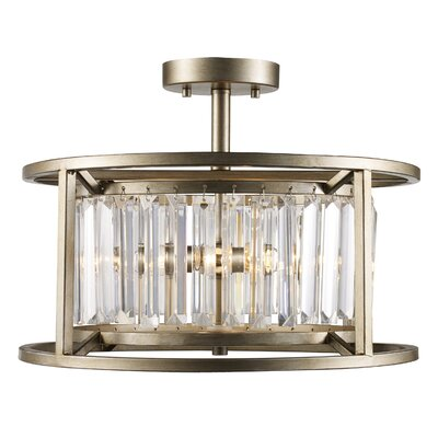 Becquere 3-Lights Semi Flush Mount
