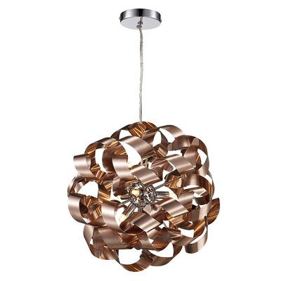 Birmingham 9-Light Geometric Pendant Finish: Satin Aluminum