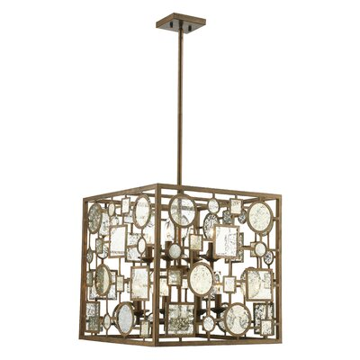 Belgrade 8-Light Foyer Pendant Finish: Antique Silver