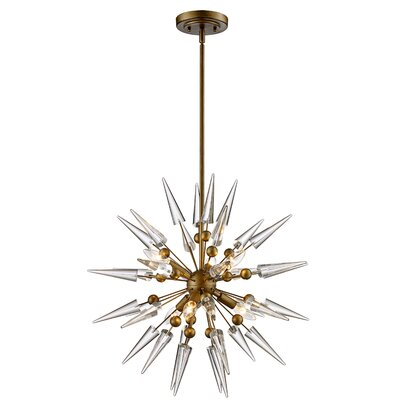 Gonnard 6-Light Geometric Pendant Finish: Antique Gold