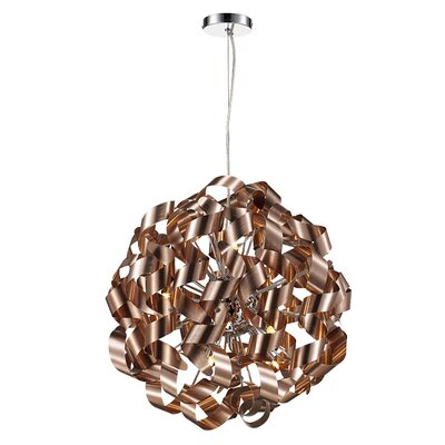 Birmingham 12-Light Geometric Pendant Finish: Polished Chrome