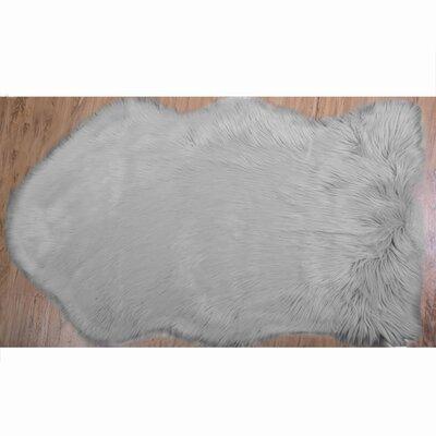 Algedi Faux Sheepskin Gray Area Rug Rug Size: 26 x 311