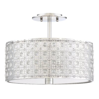 Squires 3-Light Semi Flush Mount