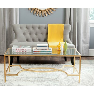 Audington Coffee Table Color: Gold