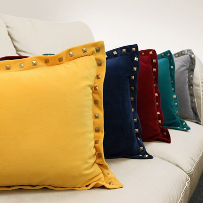 Sheringham Decorative Throw Pillow Color: Teal