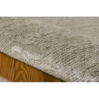 Preminger Hand-Knotted Gray Area Rug Rug Size: 99 x 139