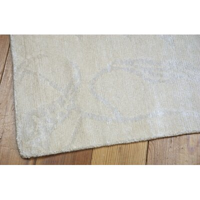 Preminger Hand-Knotted Ivory Area Rug Rug Size: 39 x 59