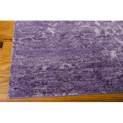 Preminger Hand-Knotted Amethyst Area Rug Rug Size: 86 x 116