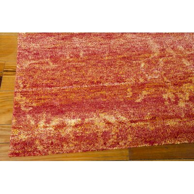 Preminger Hand-Knotted Flame Area Rug Rug Size: Rectangle 39 x 59