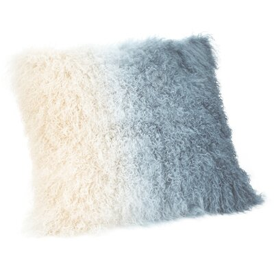 Gosling Lamb Fur Throw Pillow Color: Light Blue