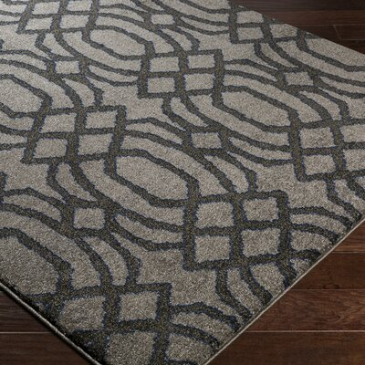 Brookside Gray Area Rug Rug Size: 53 x 76