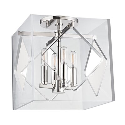 Rooker 4-Light Flush Mount Finish: Polished Nickel