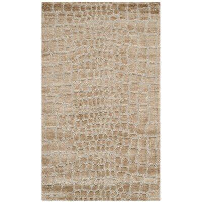 Amazonia Hand-Tufted Ivory Area Rug Rug Size: 56 x 86