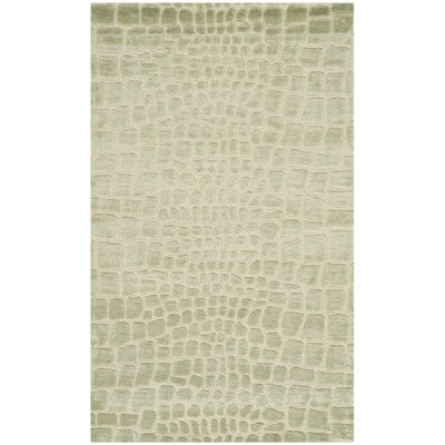 Amazonia Hand-Tufted Beige/Gray Area Rug Rug Size: 39 x 59