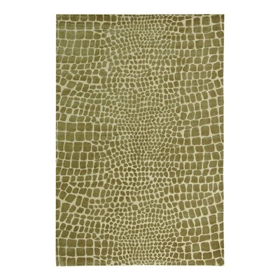 Amazonia Hand-Tufted Beige/Green Area Rug Rug Size: 86 x 116