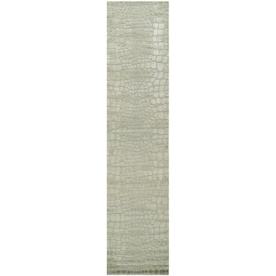 Amazonia Hand-Tufted Gray/Green Area Rug Rug Size: 56 x 86