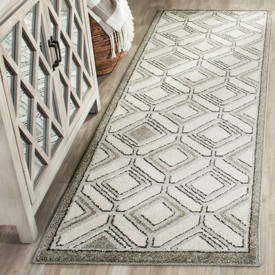 Maritza Ivory/Light Gray Indoor/Outdoor Area Rug Rug Size: 4 x 6