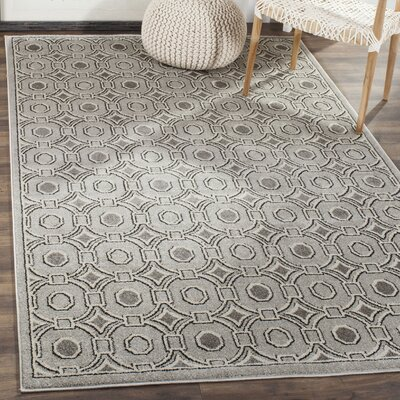 Wallis Light Gray/Ivory Indoor/Outdoor Area Rug Rug Size: Round 7