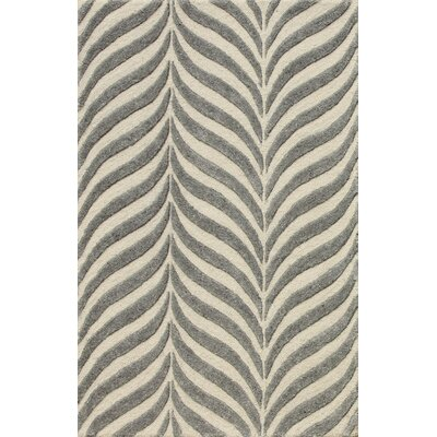 Zandbergen Hand-Tufted Beige/Gray Area Rug Rug Size: Rectangle 8 x 10