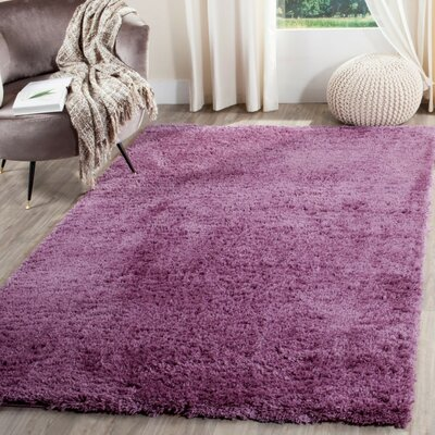 Zirconia Purple Area Rug Rug Size: 67 x 92
