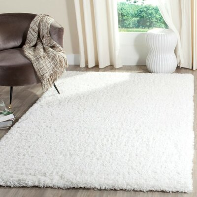 Bilroy White Area Rug Rug Size: Rectangle 4 x 6