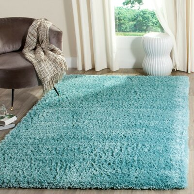 Zirconia Turquoise Area Rug Rug Size: Rectangle 9 x 12