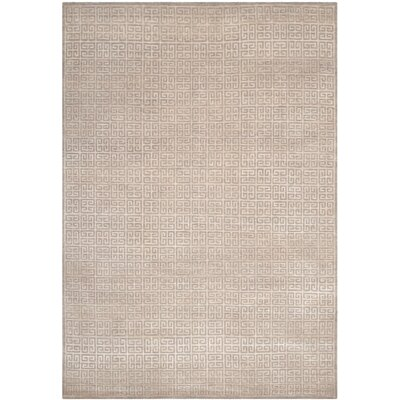 Zolder Hand-Knotted Gray Area Rug Rug Size: Rectangle 6 x 9