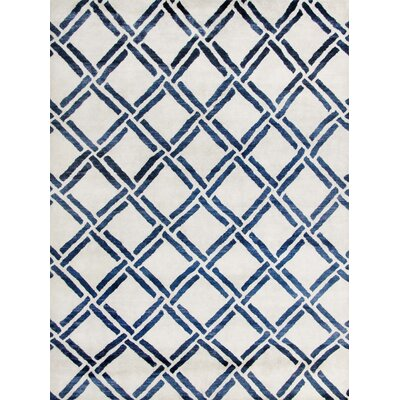 Bombaye Hand-Knotted Ivory/Blue Area Rug