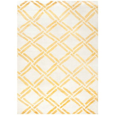 Bombaye Hand-Knotted Ivory/Gold Area Rug