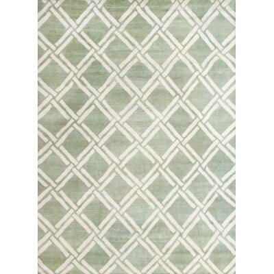 Bombaye Hand-Knotted Green/Ivory Area Rug