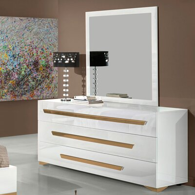 Southwell 3 Drawer Dresser with Mirror