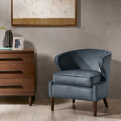 Butler Barrel Chair Color: Slate Blue