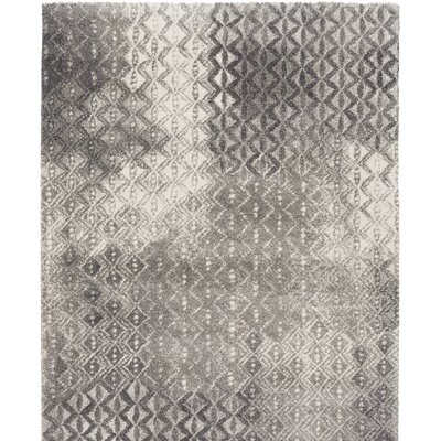 Shive Light Gray/Ivory Area Rug Rug Size: Rectangle 2 x 36