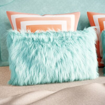 Bender Wool Lumbar Throw Pillow Color: Celadon