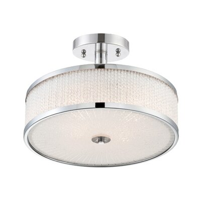 Beraun 3-Light Semi Flush Mount
