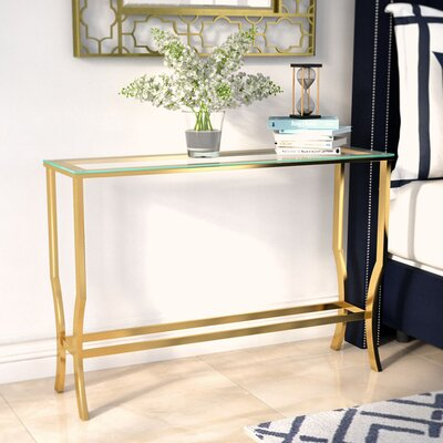 Derringer Console Table Base Finish: Gold